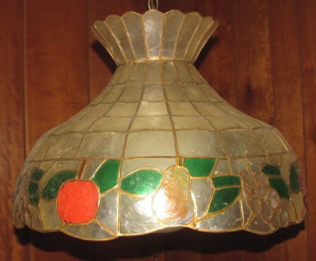 Capiz Shell Hanging Lamp