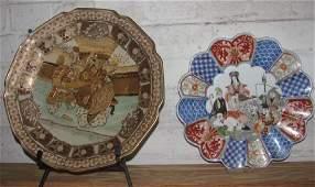 Oriental Bowl Plates Figures