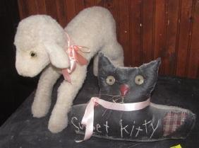 Lamb & Kitty Fabric Door Stop