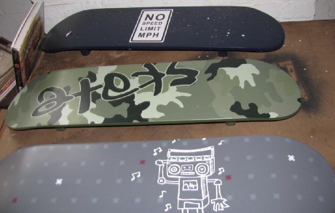 3 Skateboard Wall Hangings