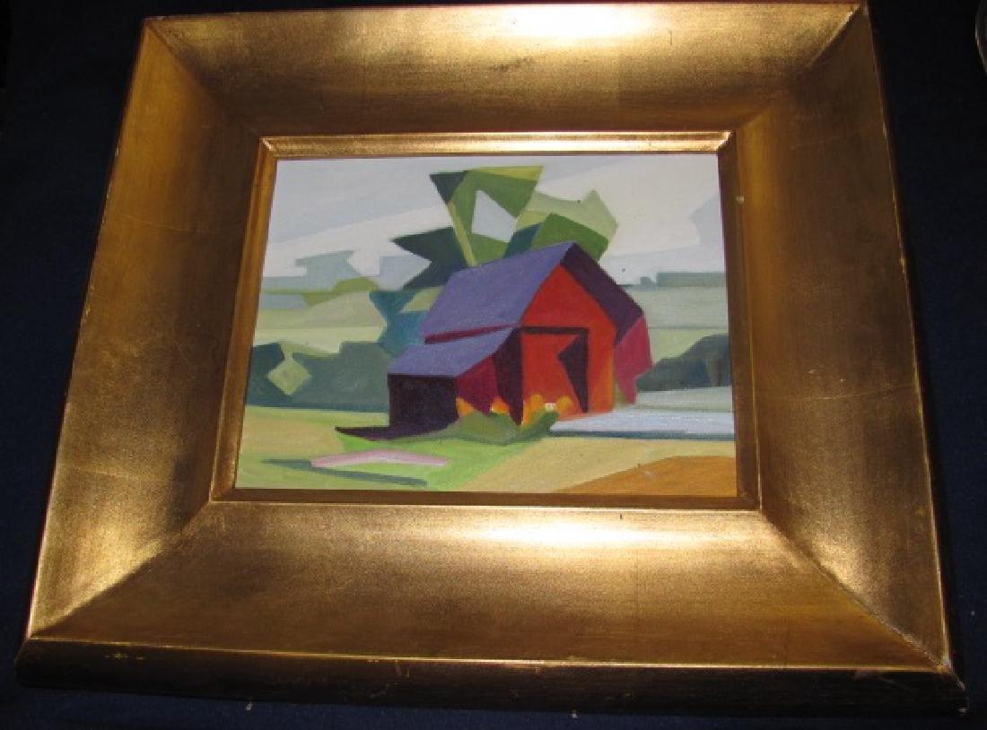 Oil on Canvas & City Scape Pastel