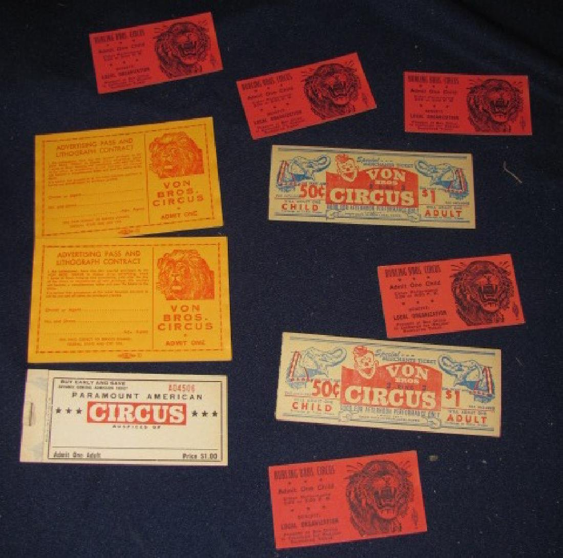 Circus Ticket Stubs & Books