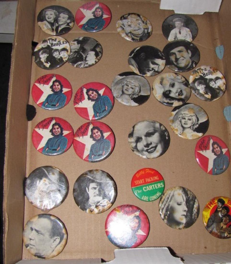 Beatles John Travolta Button Lot