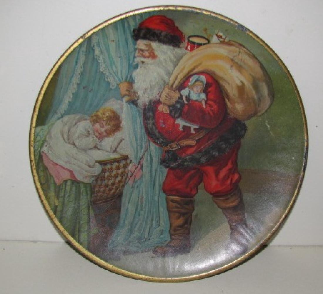 Tin Kenny Co. Santa Chrismas Plate
