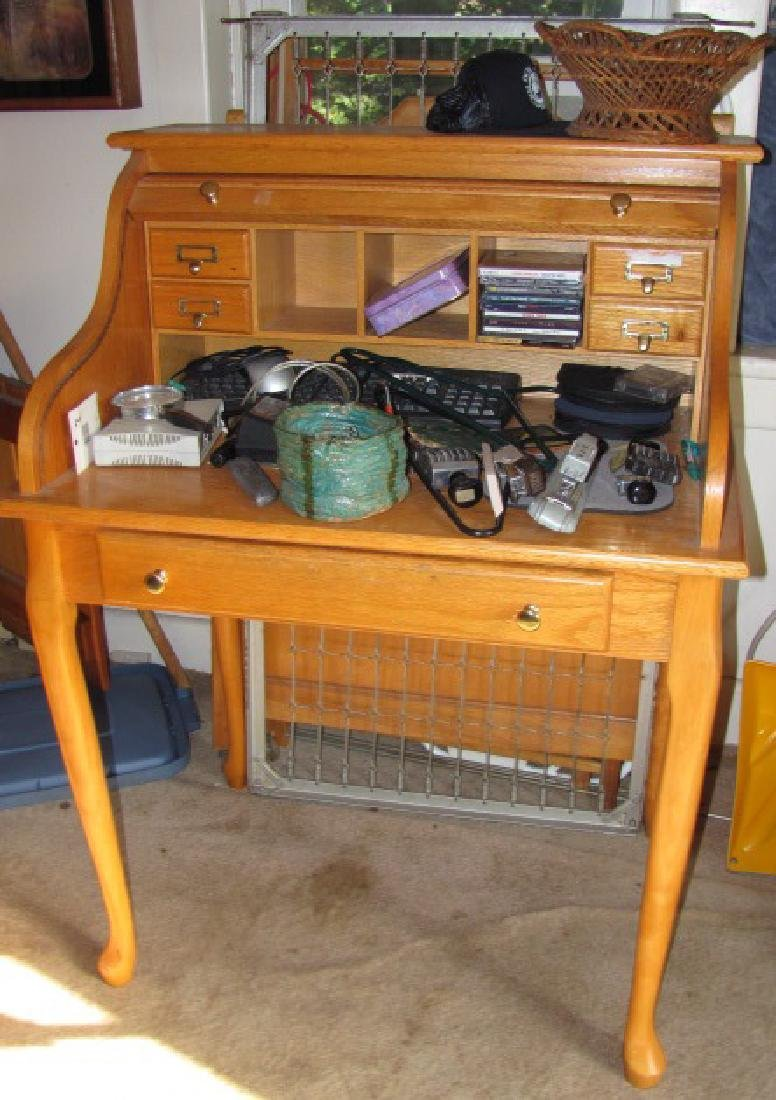 Rolltop Desk & Contents
