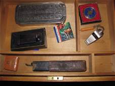 Wood Box  Contents ATC Lighter Whistle