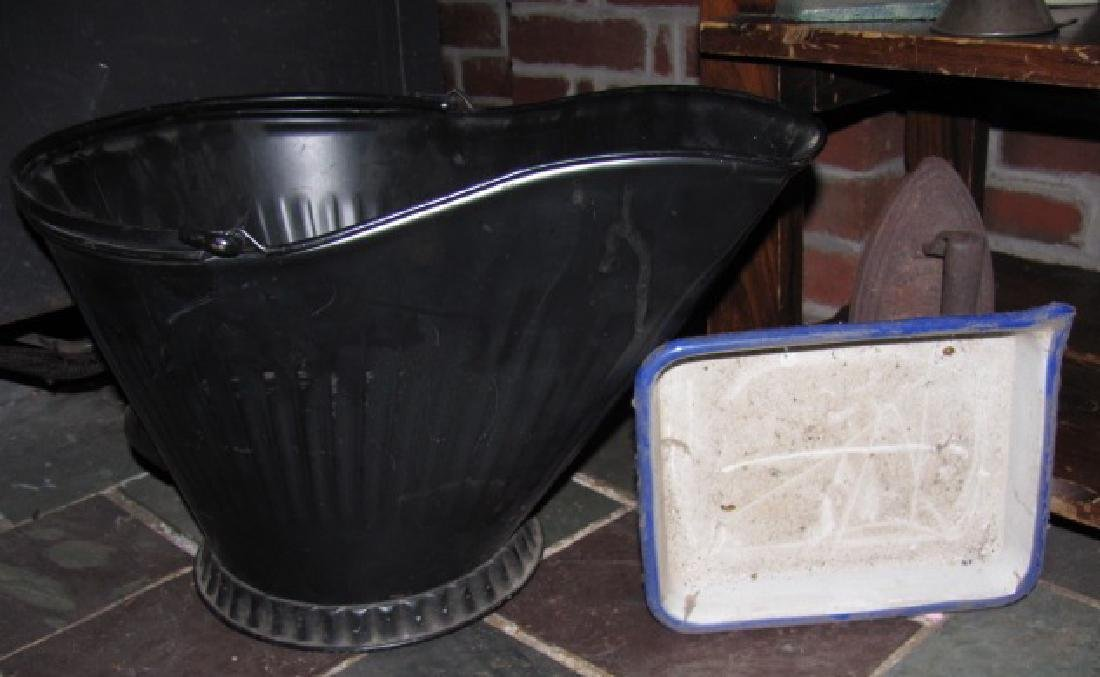 Stoneware Coal Bucket Sad Irons - 6