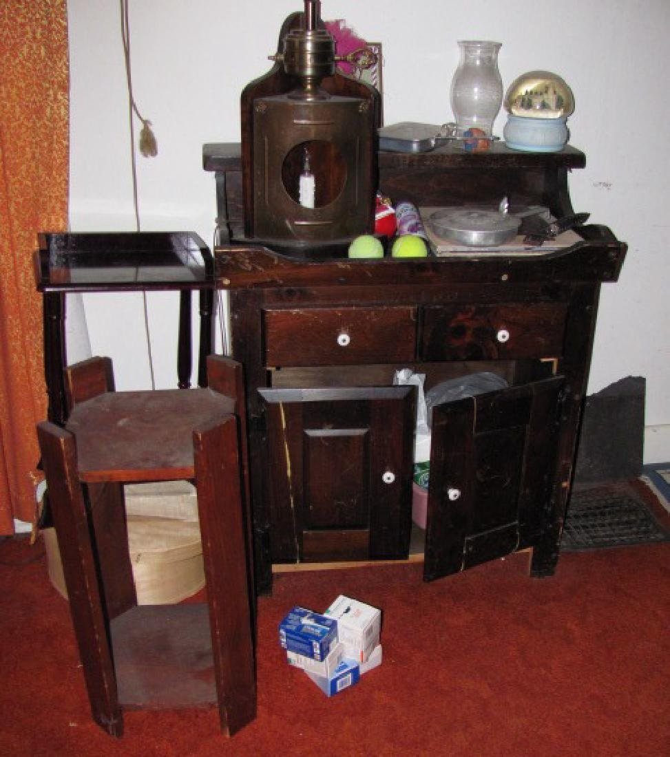 Plant Stand Lamp Table Lot