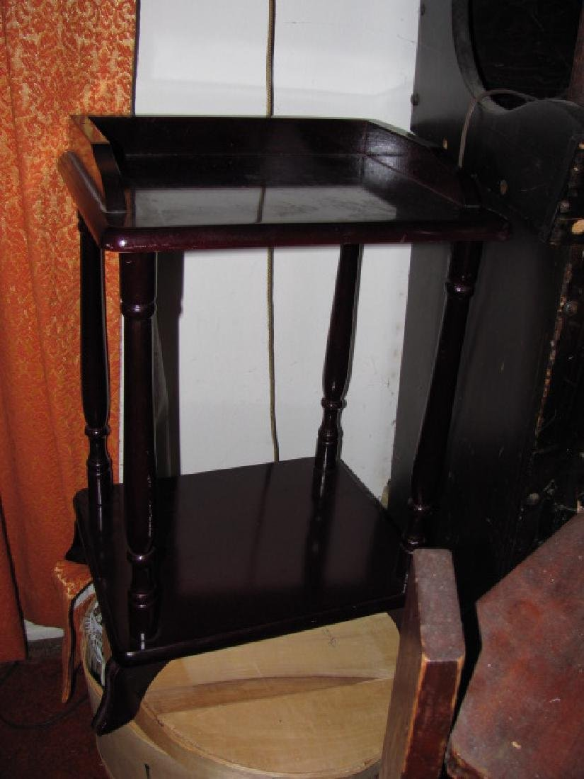 Plant Stand Lamp Table Lot - 2