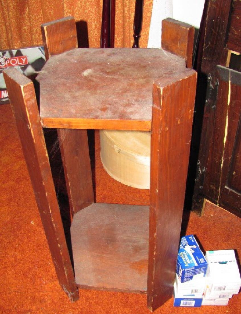 Plant Stand Lamp Table Lot - 3