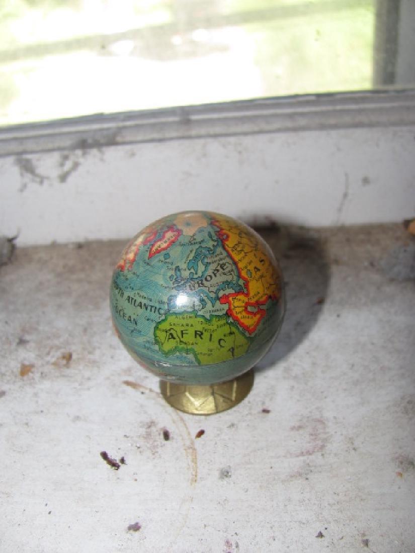 German Globe Tin Pencil Sharpener - 2