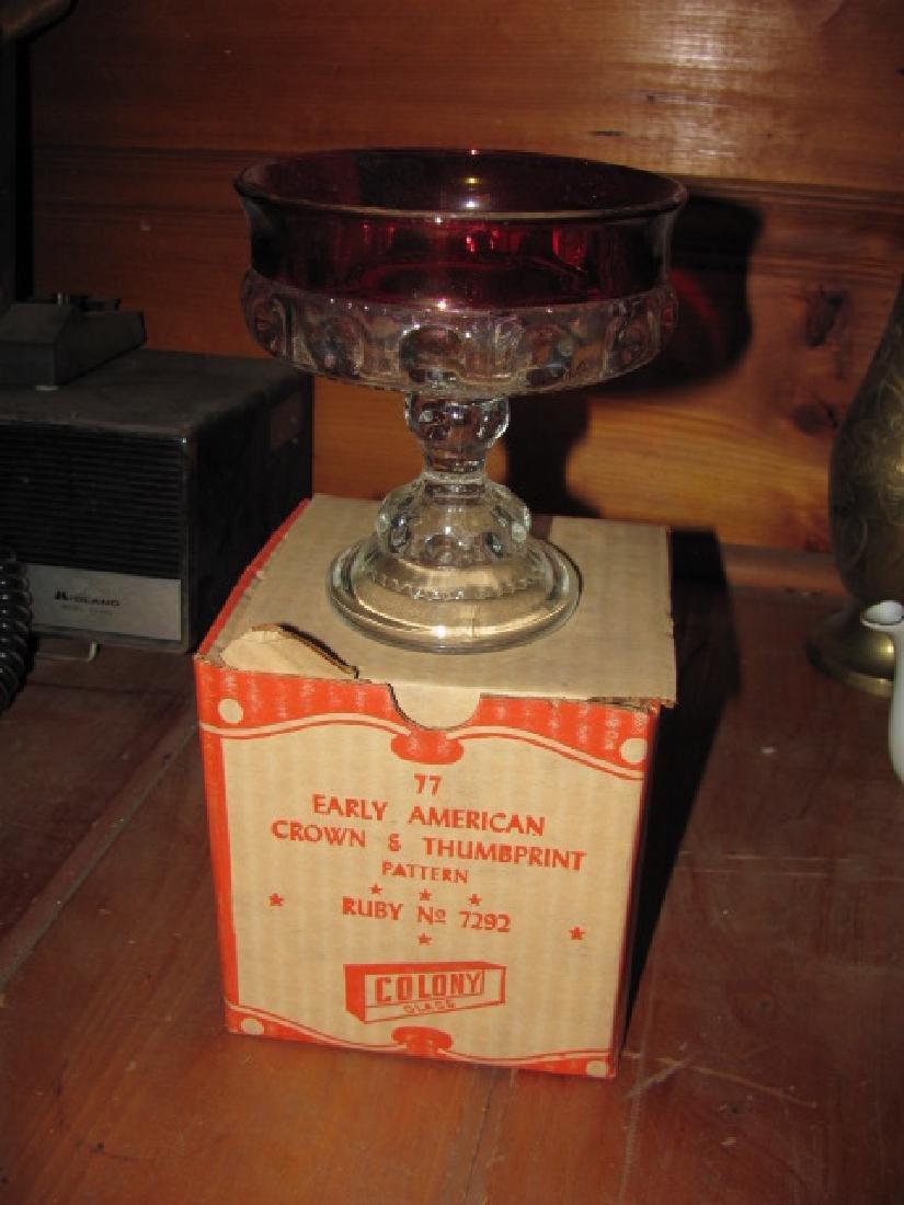 """Colony Glass 5"""" wedding bowl"""