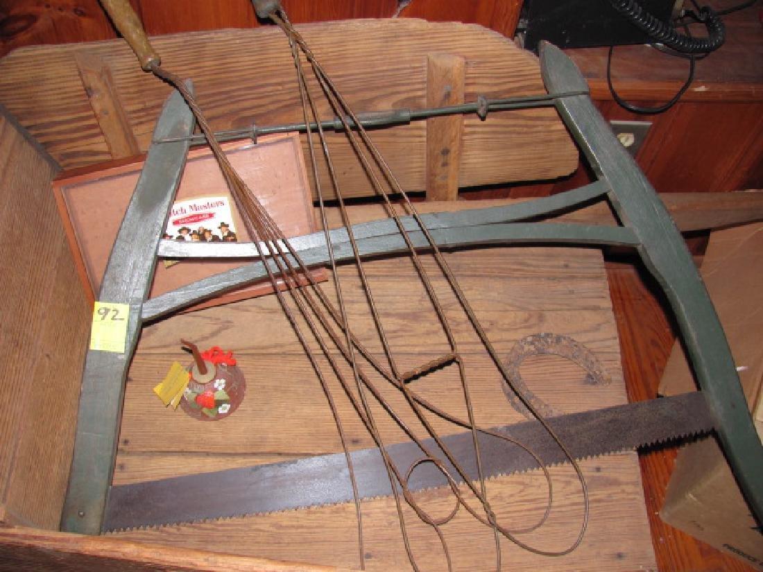 Wooden Wheel Barrow Saw Rug Beaters - 5