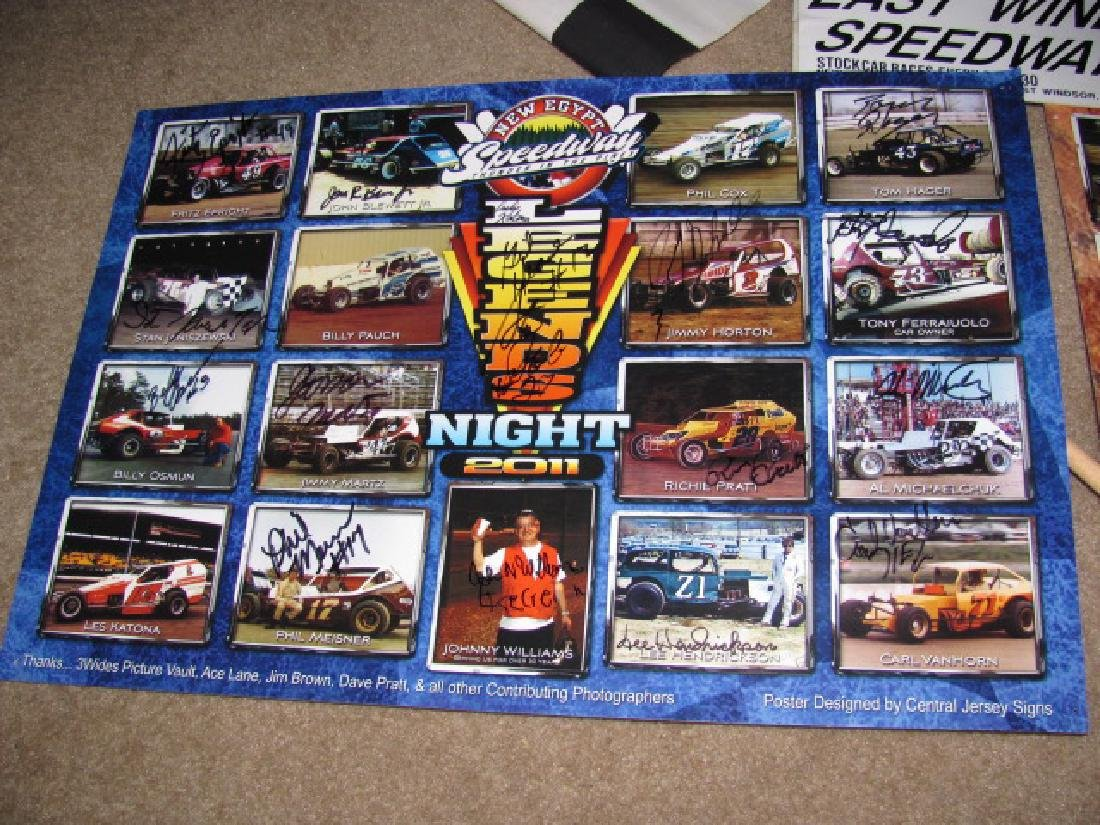 Autographed New Eqypt Speedway Posters - 3