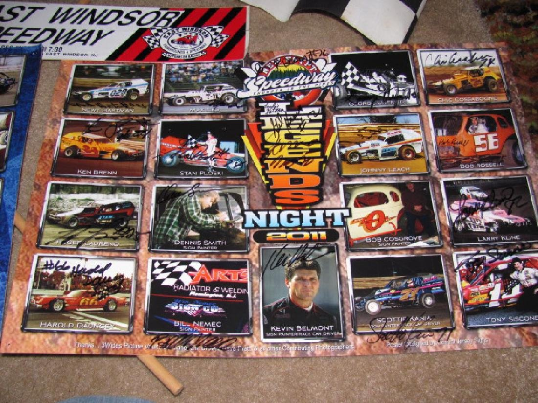 Autographed New Eqypt Speedway Posters - 4