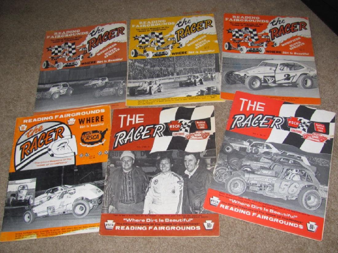 Vintage Reading Fairgrounds Racing Programs