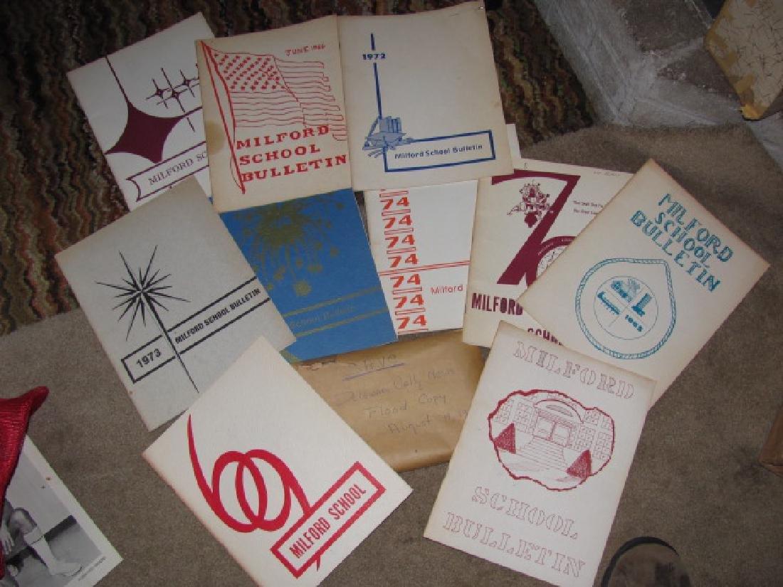 Milford NJ School Bulletin Books