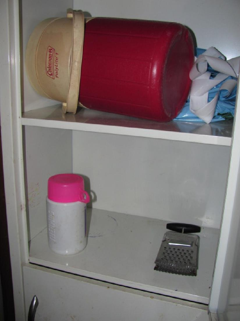 Metal Cabinet & Contents - 3