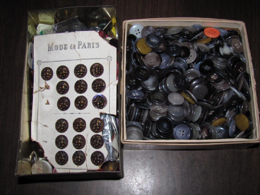 2 Boxes of Buttons
