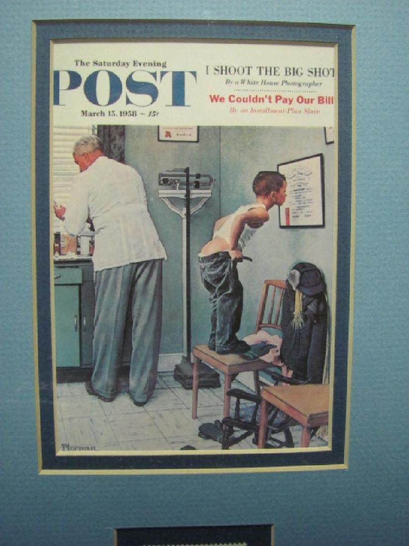 Framed Norman Rockwell Print & Stamp - 3