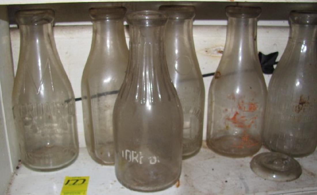 Lot of Milk Bottles
