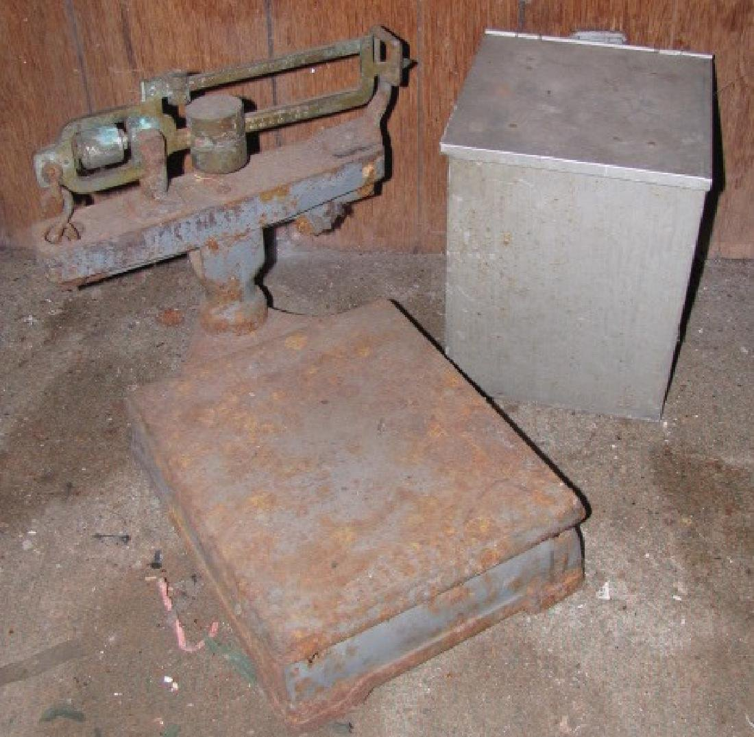 Fairbanks Scale & Milk Box