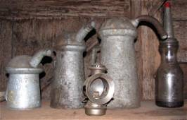 Oil Cans Bottle & Lantern