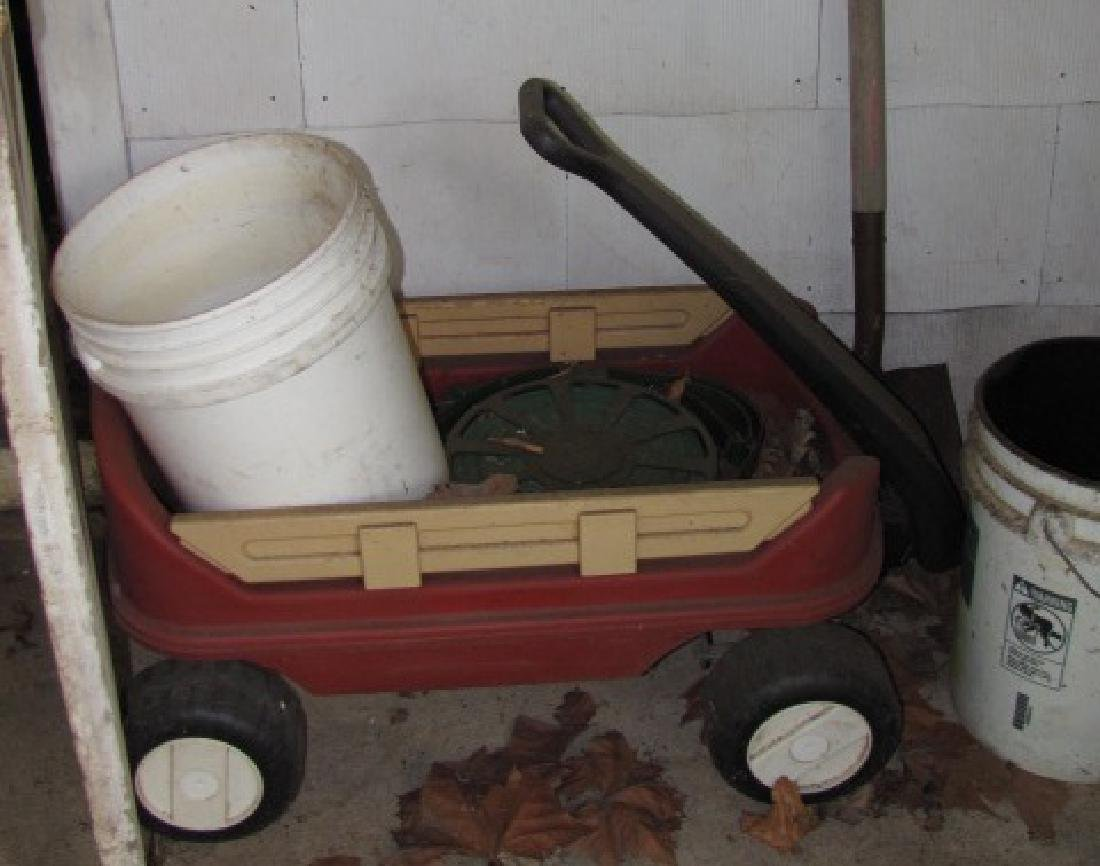 Lawn Roller & Childs Wagon - 2