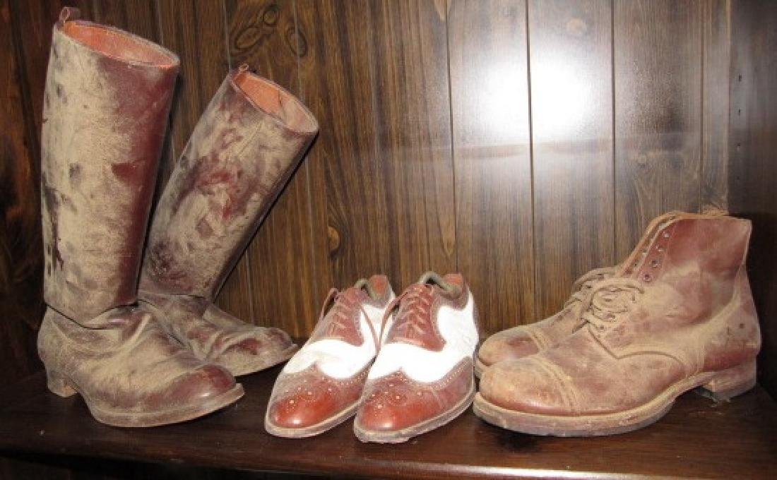 Cowboy & Army Boots w/ shoes Lot