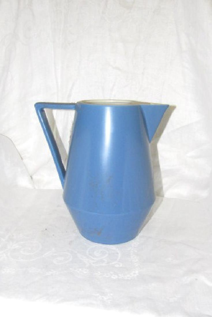 Hall China Amtrak Blue Water Pitcher