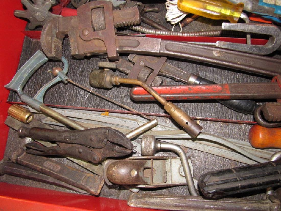Tool Lot - Pipe Wrenches, Impact Driver - 5