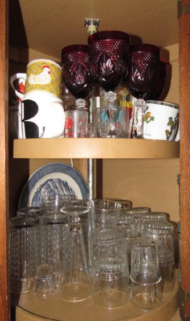 Cabinet Lot Stemware Glasses