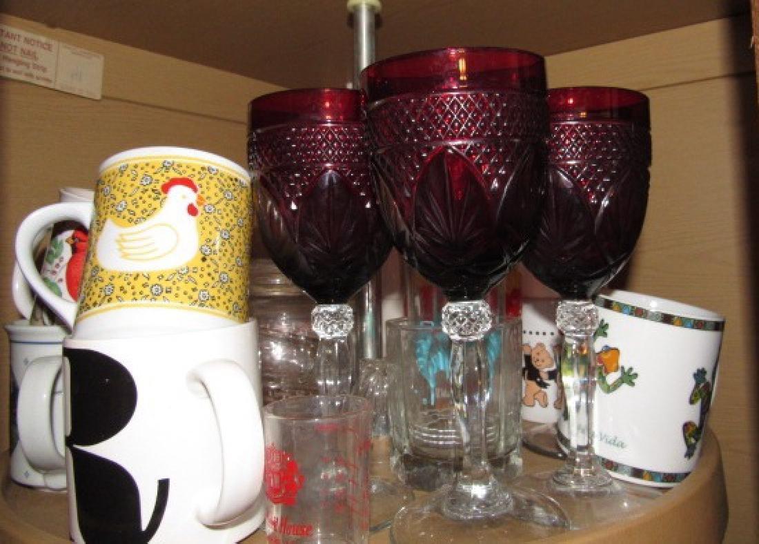 Cabinet Lot Stemware Glasses - 2