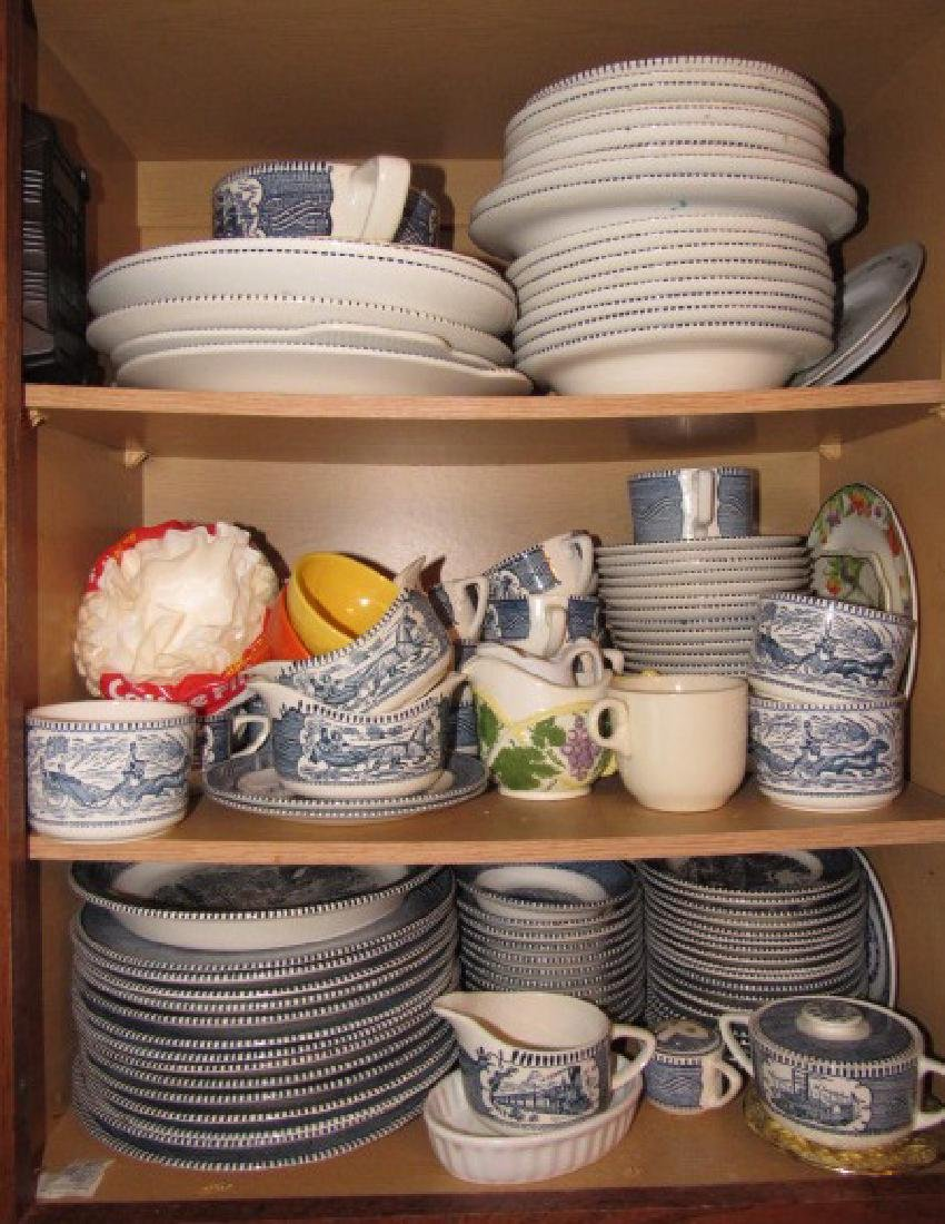 Royal Courier & Ives Dinnerware Set