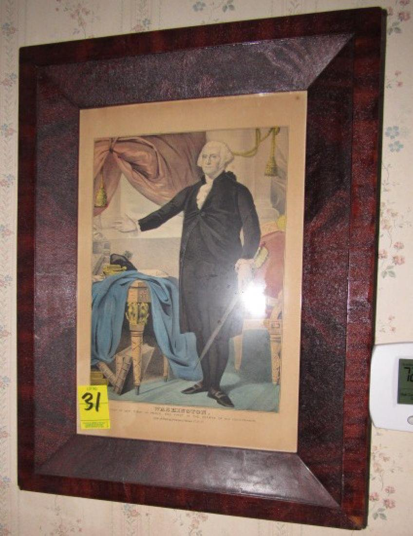 Framed George Washington Print
