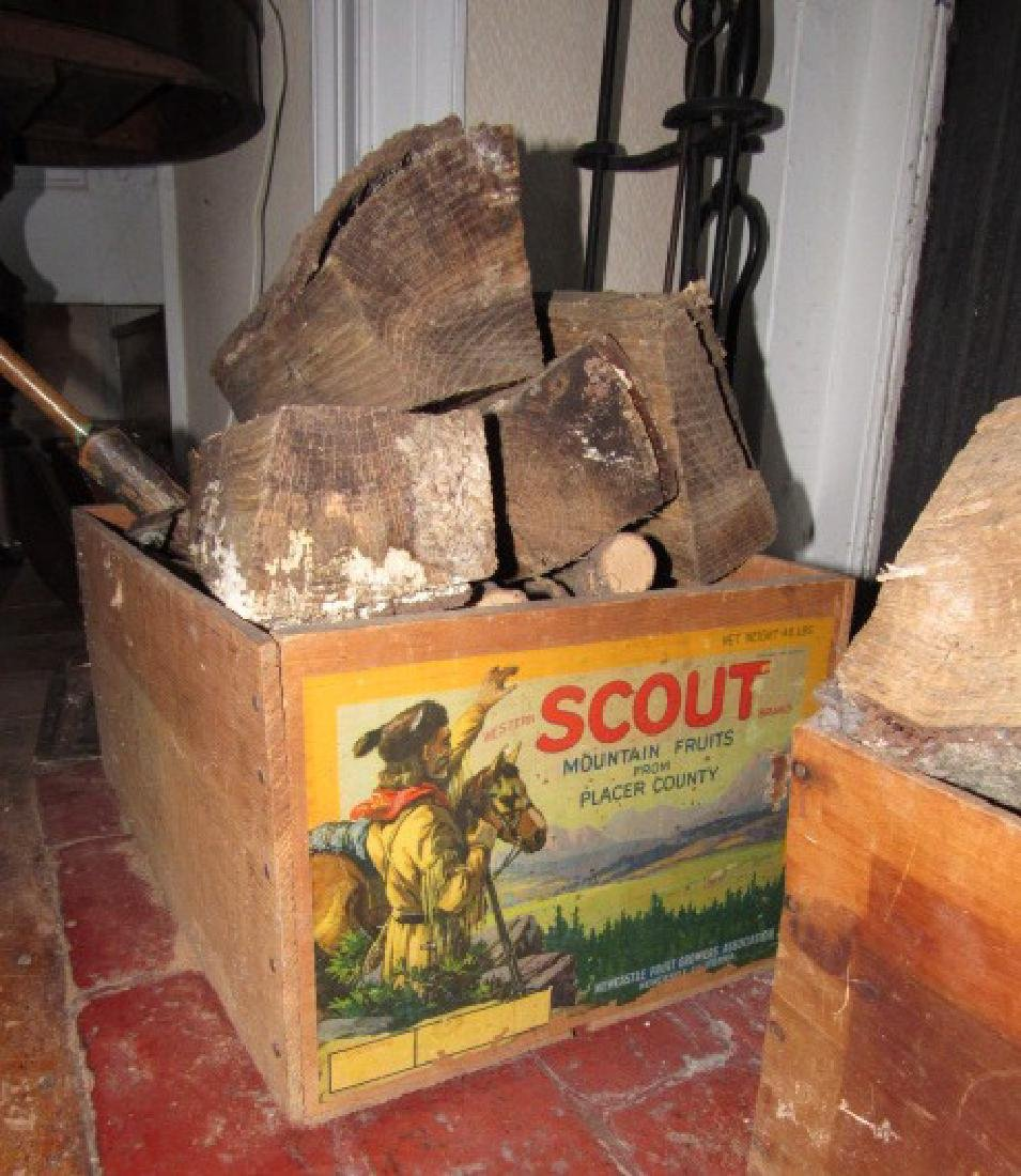 Scout Fruits Wood Crate Ship Candle Holder - 4