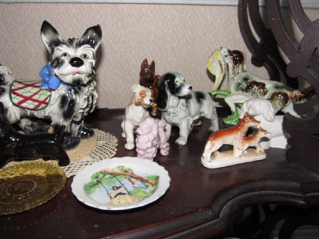 Contents of Shelf Cups Saucers Dogs Nippon - 7