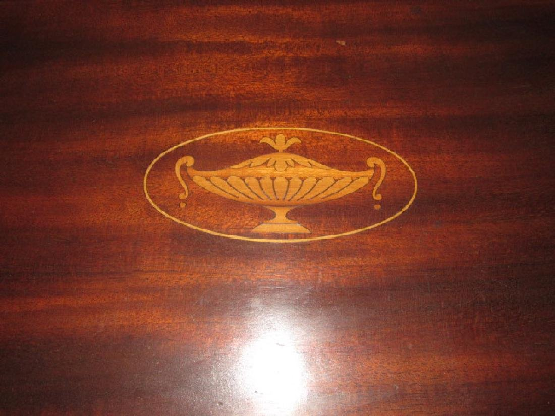 Mahogany Inlaid Oval Serving Tray - 2