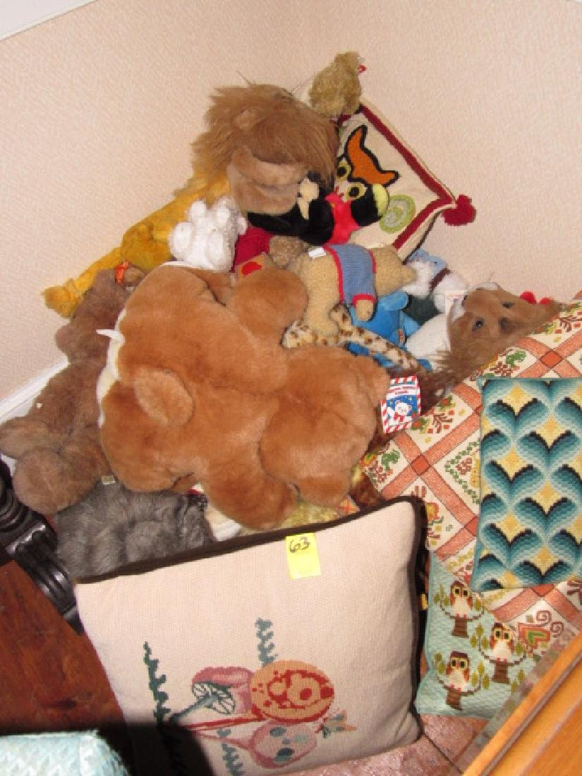 Needle Point Pillows & Stuffed Animals