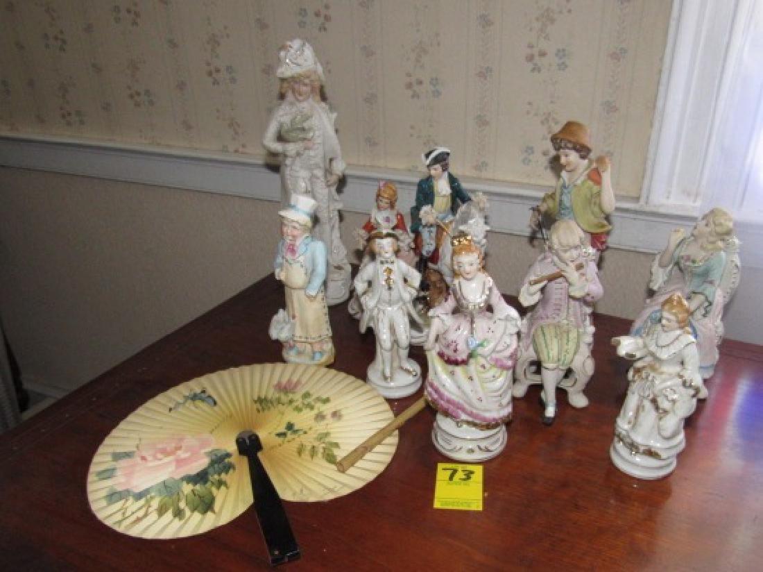 Statues & Oriental Fan