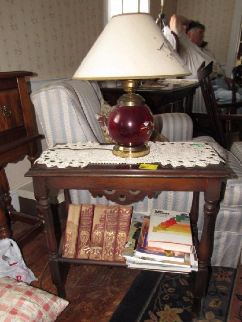 Table Lamp & Books