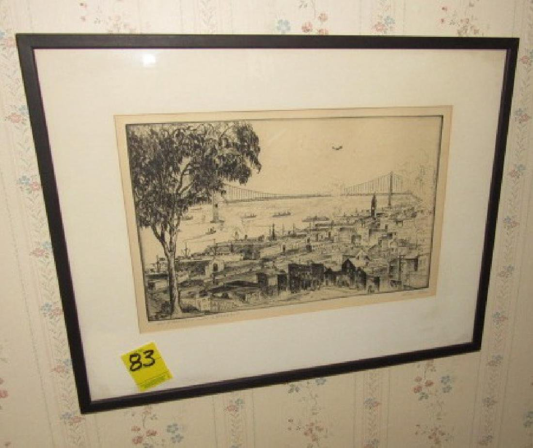 Alan Storm ? Etching Signed San Francisco