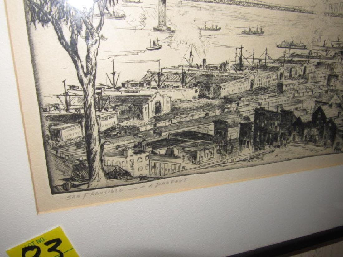 Alan Storm ? Etching Signed San Francisco - 2