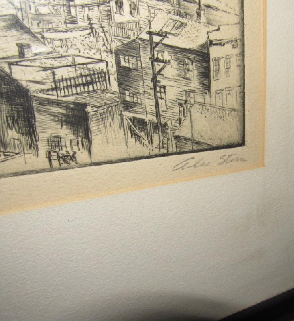 Alan Storm ? Etching Signed San Francisco - 3