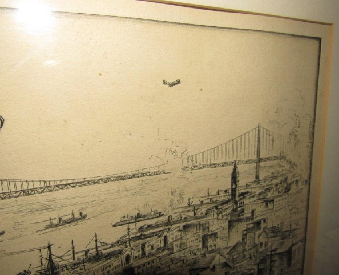 Alan Storm ? Etching Signed San Francisco - 4