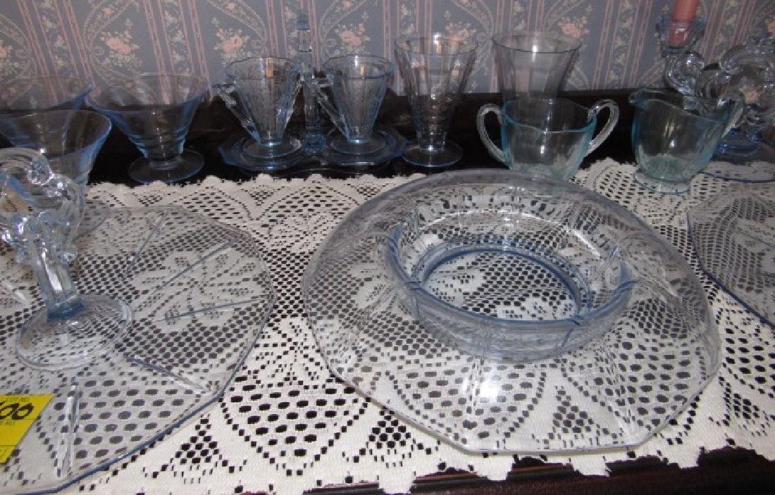 Blue Depression Glass Set - 3