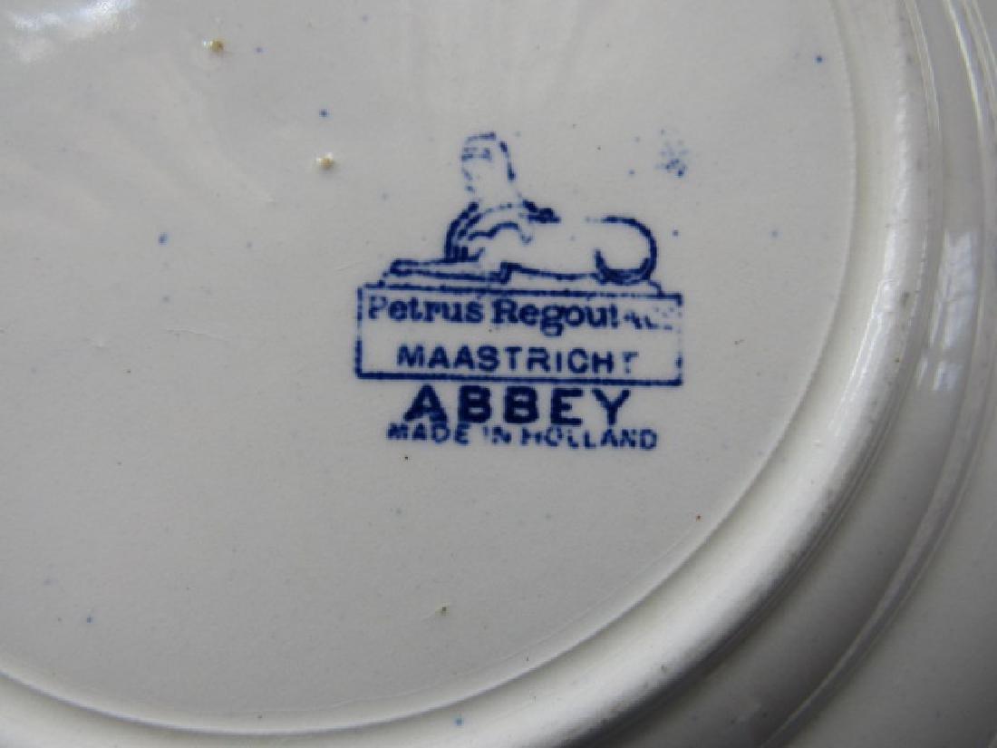 3 Watteau Flow Blue Plates & Transfer ware - 7