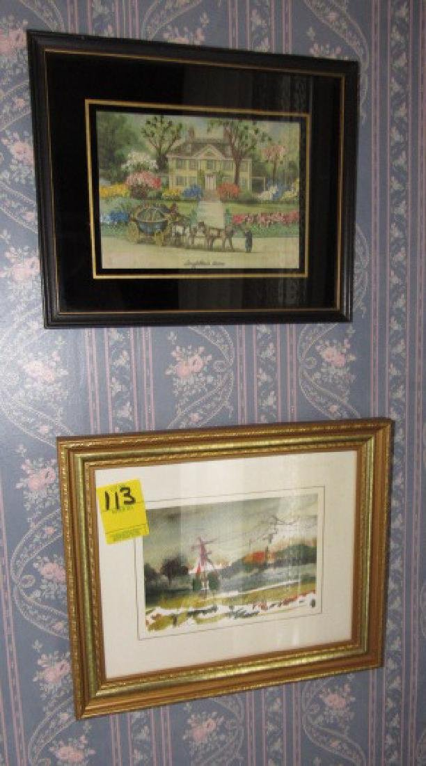 2 Hofflander Water Colors & Needle Point - 4