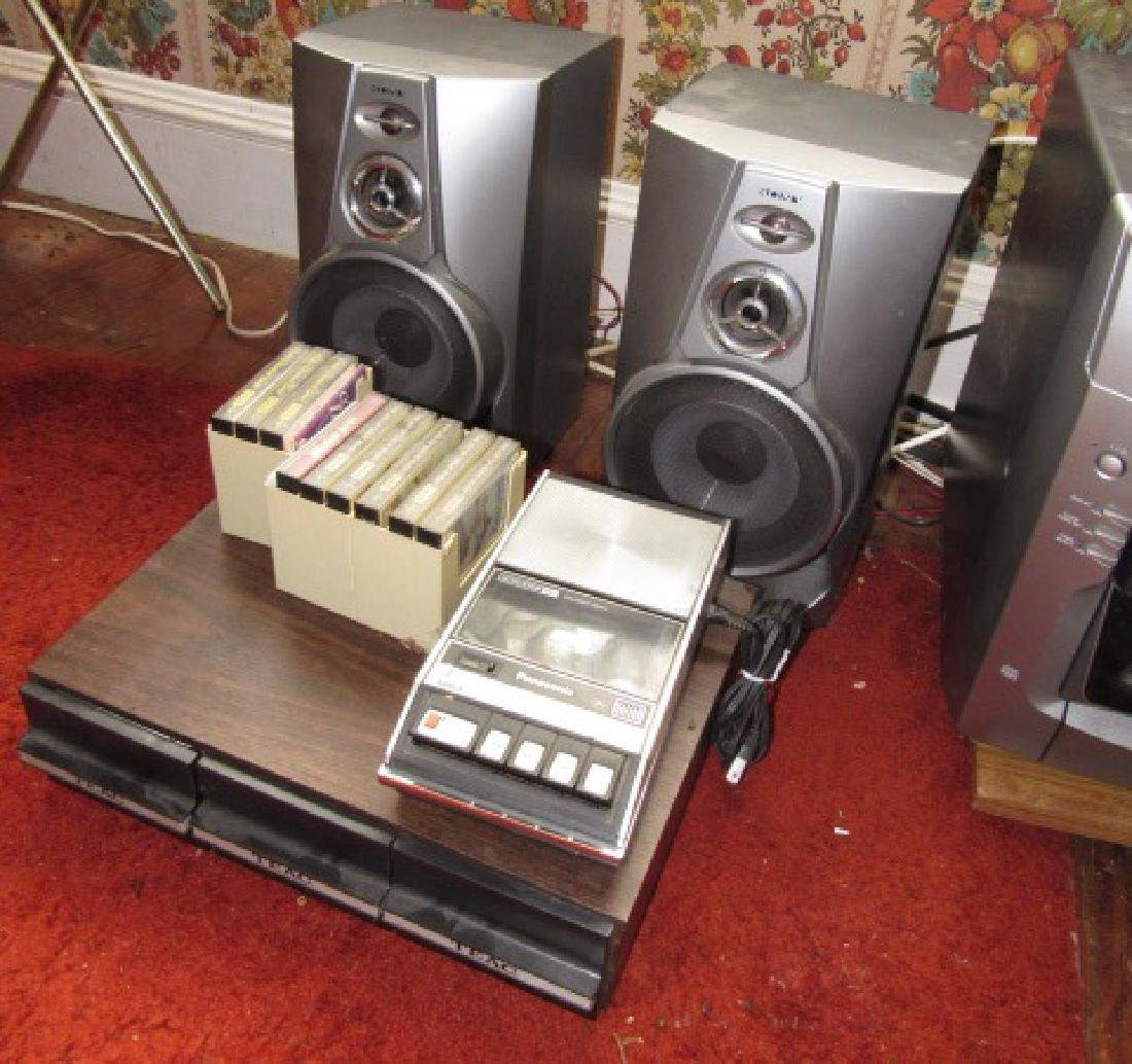File Cabinet Stereo Lamp & Misc - 2