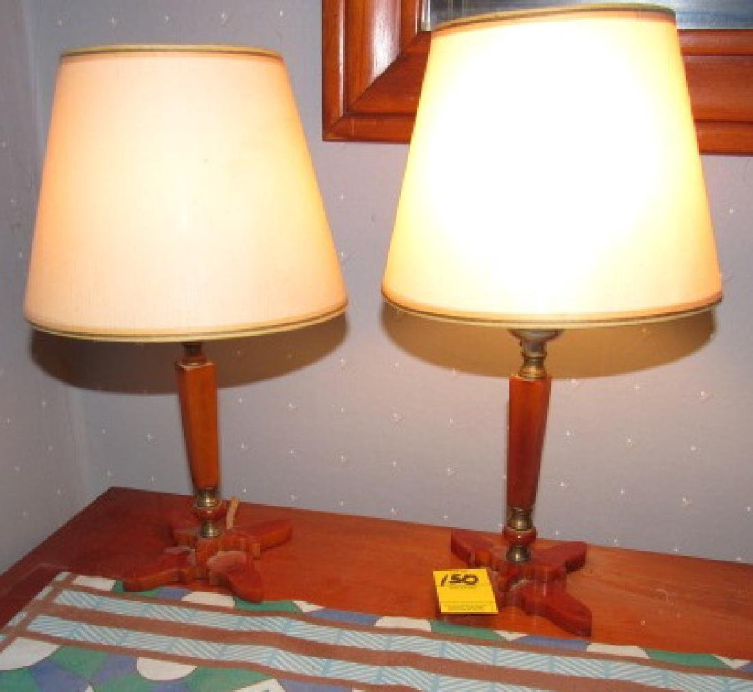 Pair of Bakelite Lamps